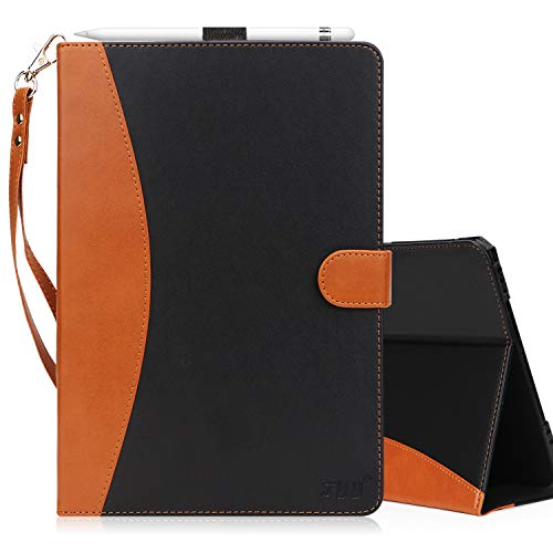 FYY Case for Samsung Galaxy Tab S3 9.7 - Premium PU Leather Case Stand Cover with Card Slots, Note Holder, Hand Strap for Galaxy Tab S3 9.7 Black (with Auto Wake/Sleep)