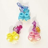 Paquete de 12 Recuerdos Zapatitos Llaveros Baby Shower Llaveros Regalos