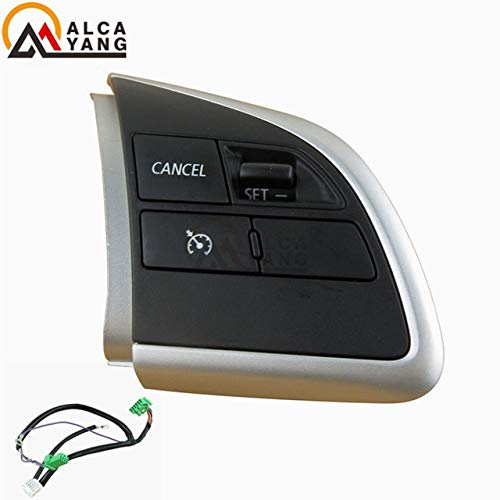 Fincos for Mitsubishi Outlander 13-15 2016-2018 Xpander Cruise Control Switch Steering Wheel Control Switch Button Audio Volume Switch - (Color: Right and Wire) ()