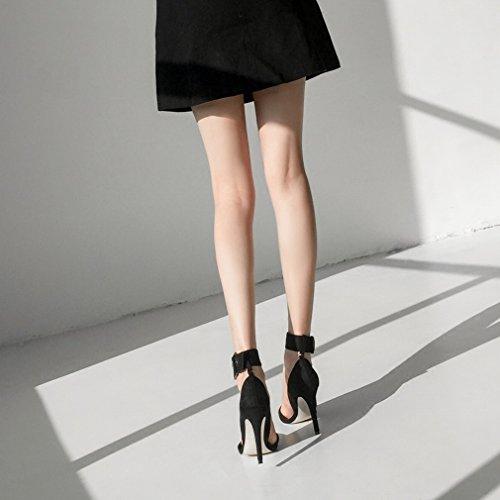 Mujer YL Dos LY Alrededor UN Zapatos del Usan de Boca Tacones Tobillo Baja Altos qqr78p