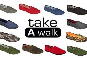 Machen Sie einen Spaziergang Canvas Slip-On für Frauen Navy Denim