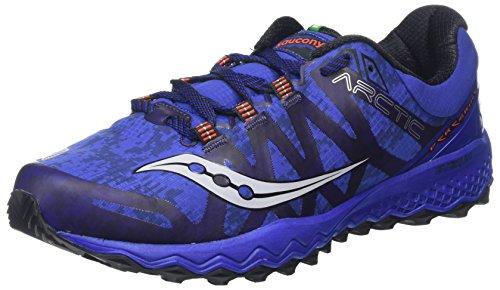 (Saucony Men's Peregrine 7 ice+ Running Shoe, Blue, 11.5 Medium US)