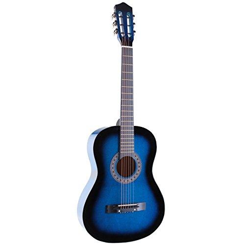"38"" BLUE Acoustic Starter Guitar (7/8 Size) & DirectlyCheap(TM) Translucent Blue Medium Guitar Pick"