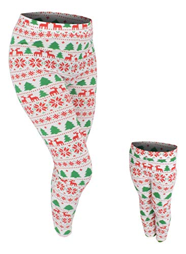 Unique Baby UB Girls Mommy and Me Winter Print Christmas Leggings (2t)