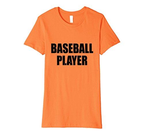 Womens Baseball Player Halloween Costume Party Cute & Funny T shirt Medium Orange