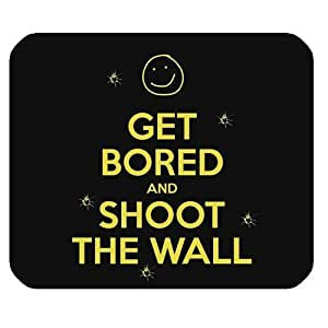 Generic Personalized Get Bored and Shoot the Wall Smile Face for Rectangle Mouse Pad by icecream design