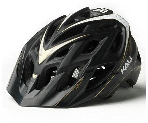 Kali Protectives Chakra Plus Stripes Bike Helmet (Black, Small/Medium)