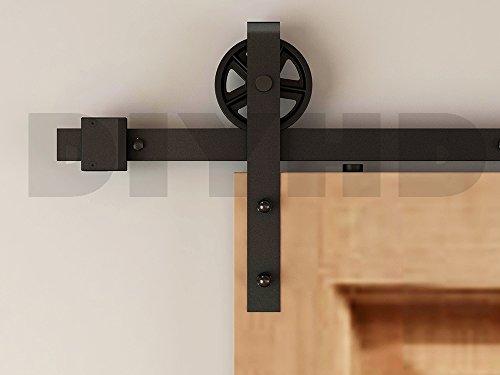 DIYHD 10FT Industrial Spoke Wheel Sliding Barn Door Interior Closet Door Kitchen Door Track Hardware To Hang 1 Big Door Panel