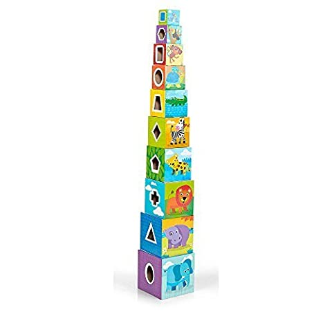 Imaginarium 5 Side Activity Stacking Cubes - 19-piece by Toys R Us