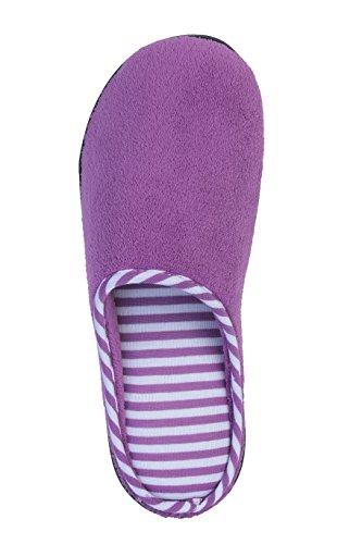 Zapatillas Beverly Rock Mujer Cabana Rayas Terry Clog Zapatillas Purple