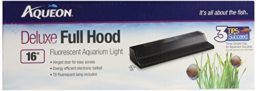 All Glass Aquarium AAG21216 Fluorescent Deluxe Hood, 16-Inch