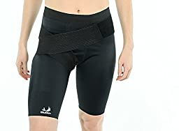 Compression Shorts with Additional Groin Wrap for Increased Support - Enhance Performance and Recovery from Hamstring, Thigh, and Groin Injuries - By BioSkin (Small)