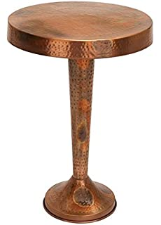 Deco 79 Metal Copper Accent Table, 26 By 19 Inch