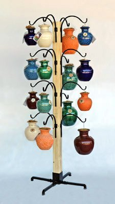 DOWN UNDER POT DISPLAY STAND (15 HOOKS)