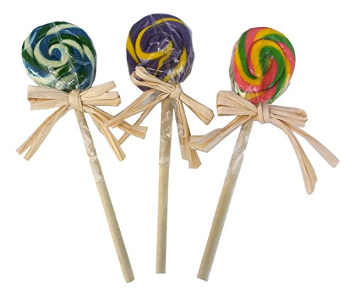 Chainsaw Lollipop Costumes (Hammond's Candy handmade old-fashioned lollipops, pack of 3 - 1 oz, Very Berry, Bubblegum, and Birthday Cake)