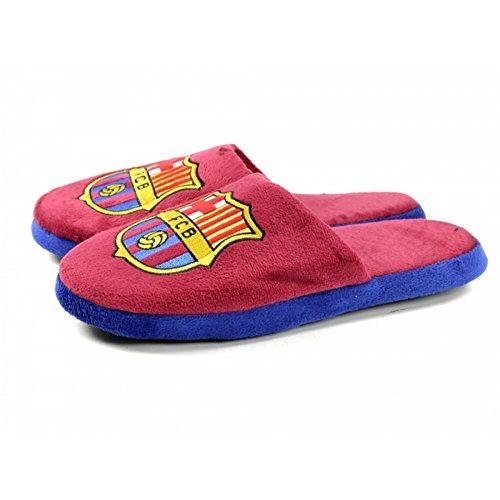 FC Barcelona Official - Pantuflas/Zapatillas de andar por casa de dos colores Burdéos/Azul