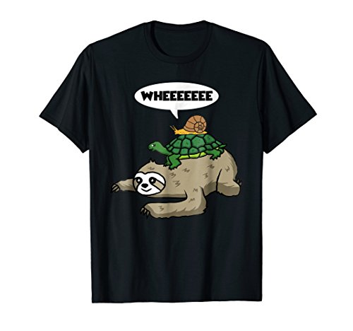Sloth Turtle Snail Funny Sloth Cute Sloth Lover Shirt Gift