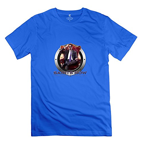 Saints Row IV: Re-Elected Icon Retro Short-Sleeve RoyalBlue T Shirts For Adult Size M