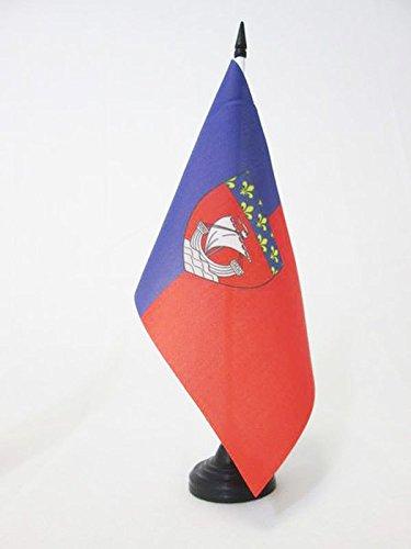 AZ FLAG Drapeau DE Table DÉ PARTEMENT DE Paris 21x14cm - Petit Drapeaux DE Bureau Seine 14 x 21 cm