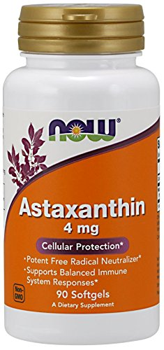 Now Foods Astaxanthin Softgels, 4 mg, 90 Count (Pack of 2)