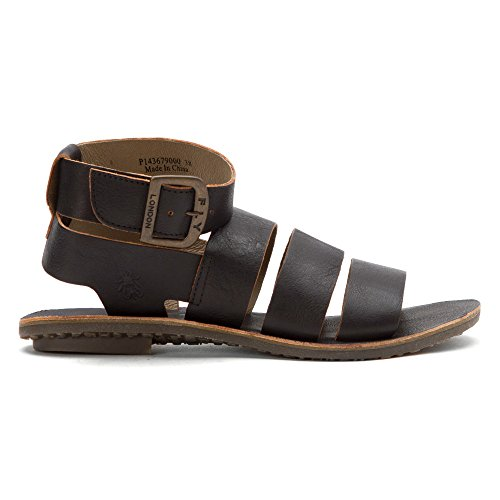 Fly London Womens Brou679fly Plattform Sandal Svart Ooo
