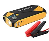 MoKo 500A Peak Car Jump Starter, 13800mAh 12V Auto Emergency Booster (Up to 5L Gas and 3.5L Diesel Engine), Portable Power Bank Battery Pack with 2 USB Ports, Compass, LED Flashlight - Black & Yellow
