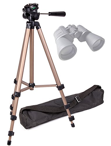 DURAGADGET Sturdy Lightweight Aluminium Tripod with Carry Bag (Binocular Adaptor Required) for Serious User 10x50 Binoculars, Celestron 71008 25x70 Skymaster Porro Prism Binoculars & Nikon Aculon A211 16x50 Binoculars