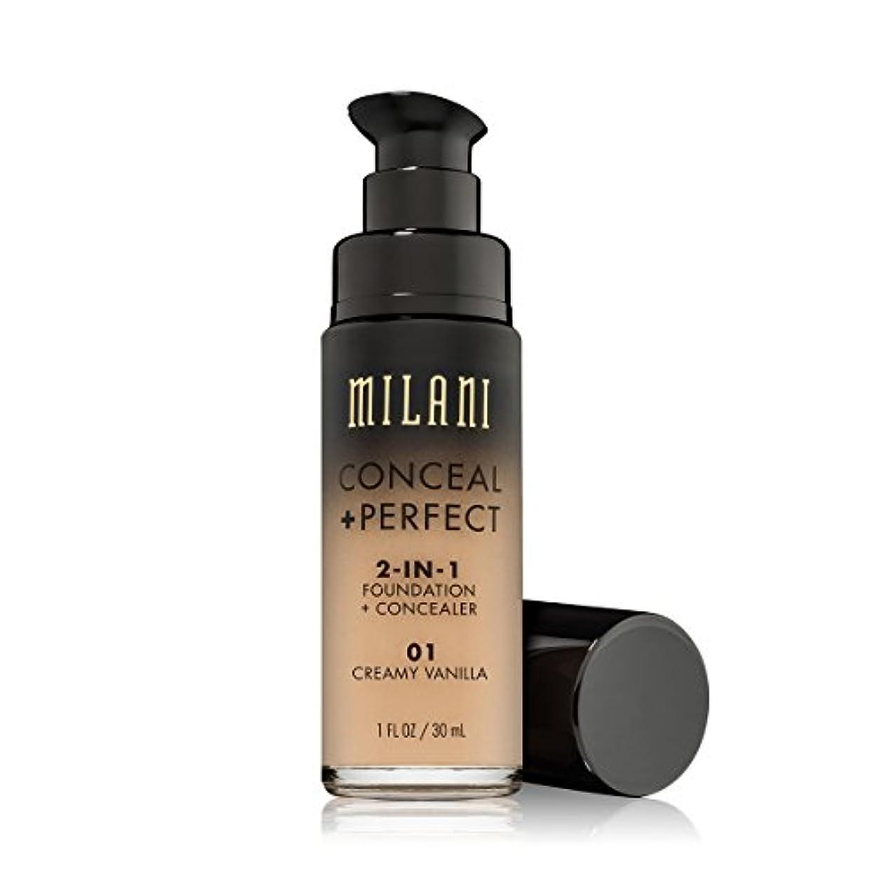 シングル愛する追うMILANI Conceal + Perfect 2-In-1 Foundation + Concealer - Creamy Vanilla (並行輸入品)
