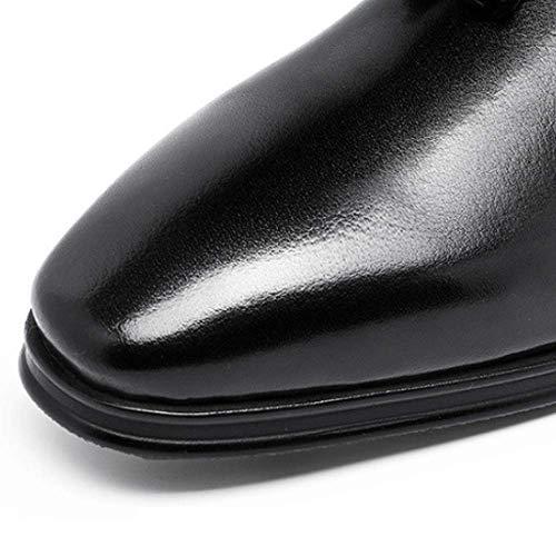 Uomo da Scarpe Business Pelle Black Gomma Resistente all'Usura Traspirante Confortevole in in d5grdcfy