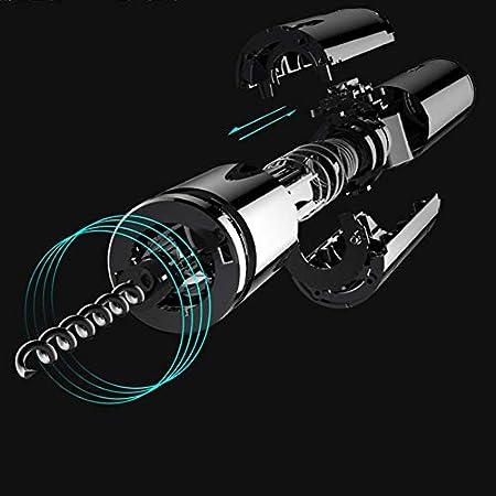 Huohou - Abrebotellas eléctrico y sacacorchos, 6 segundos, automático, abridor de botellas de vino inalámbrico, juego de abrebotellas con cortador de precintos