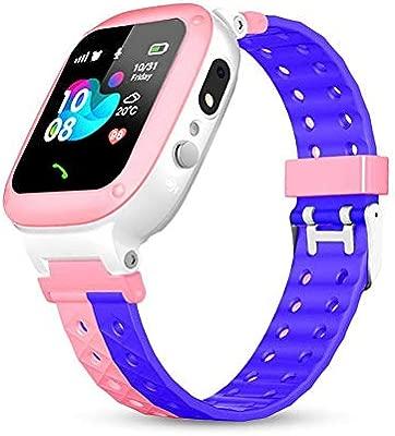 Womdee Reloj Smartwatch para niños, Reloj Inteligente para niños/niñas, con Impermeable, SOS, Llamada, Posicionamiento LBS, Cámara, Mini Juegos, ...