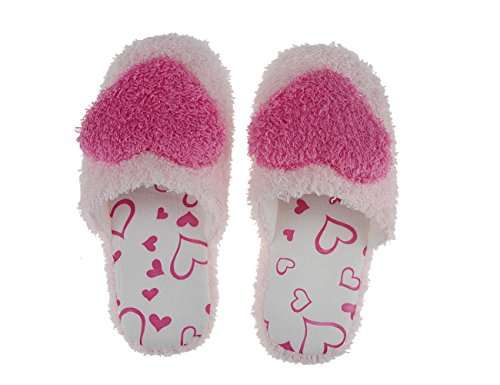 Slip Super Lightweight Boots Terry Fleece Fakeface Red Mules Home Coral Slippers On Indoor Heart Slip House Ladies Lovely Womens Girls Shoes Cosy Rose Non Slipper Warm Ankle HHAtq