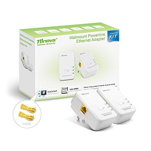 7INOVA AV200 Nano Powerline Ethernet Adapter Kit Pack, Mains Bridge Extender by 7INOVA (Image #6)