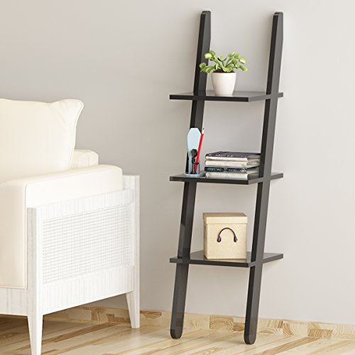 Review Leaning Shelf, LOYOKI 3-Tier Wall Decor Bookcase Stand Mounted Ledge By LOYOKI by LOYOKI