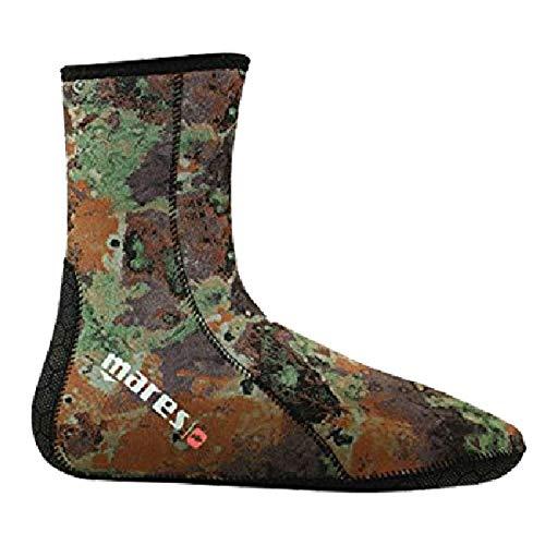 Mares Pure Instinct Mens 3mm Camo Spearfishing Socks (Camo, Small)