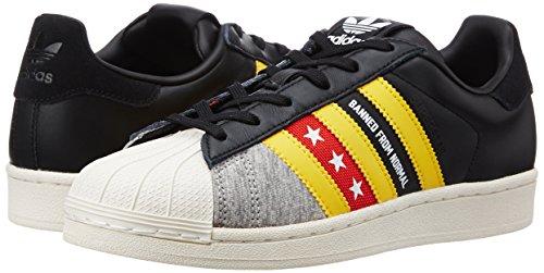 S80290 Unique Baskets Adidas Noir Taille nbsp;femme Ro jaune Superstar blanc q6FxFtC