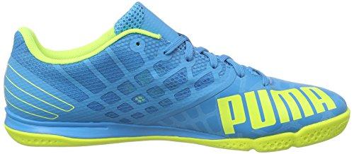 Puma evoSPEED Sala 3.4 - Zapatillas de fútbol sala de material sintético para hombre Azul - Blau (atomic blue-safety yellow-safety yellow 11)