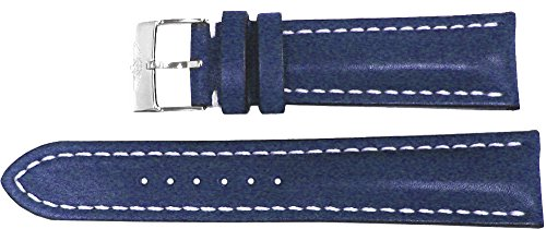 Breitling Leather Bands - Breitling Blue Leather Strap 16/14 116X