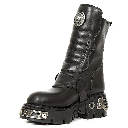 New Rock Unisex-Erwachsene M-373x-s28 Biker Boots, Schwarz Schwarz