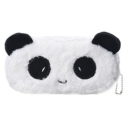 Oksale® Cartoon Plush Zipper Pencil Case Office Stationery School Storage Writting Pen Bag for Kids (Panda)