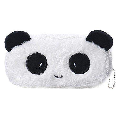 Oksale® Cartoon Plush Zipper Pencil Case Office Stationery School Storage Writting Pen Bag for Kids (Panda)