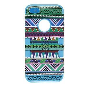 conseguir 2-in-1 Diseño del caso del patrón protector duro para el iPhone 5/5S Nacionalidad (colores surtidos) , Rosa