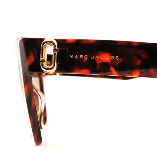 Mujer Dark Negro de para S Marc Sol Jacobs Havana 182 Gafas Marc Fvv1B8