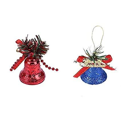 christmas bells 6pcs box christmas bell ornaments tree decoration aluminum power bells gifts georgia - Christmas Bells Decorations
