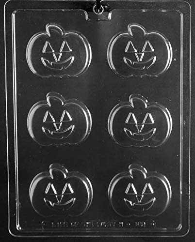 Grandmama's Goodies H182 Pumpkin Shape Oreo Cookie Thanksgiving Halloween Chocolate Candy Soap Mold with Exclusive Molding Instructions -