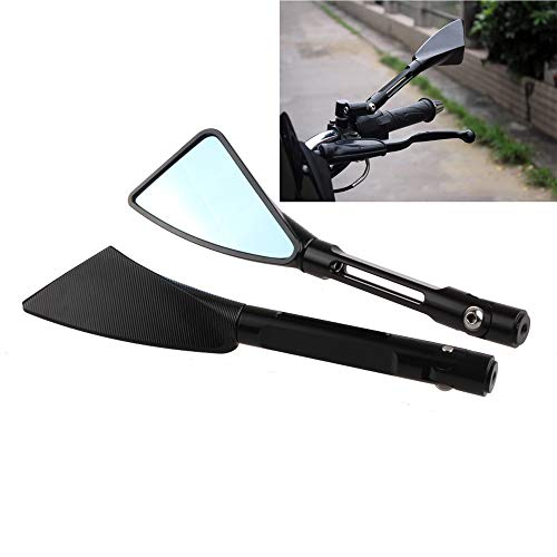(Arm Aluminum TOMOK CNC Motorcycle Rear Side Mirrors with LOGO Universal For Street Bike Sport Bike Scooter)