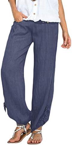 Sylar Pantalones Para Mujer Color Sólido Cintura Alta Cómodo ...