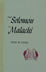 Hardcover From Solomon to Malachi (Church study course) Book