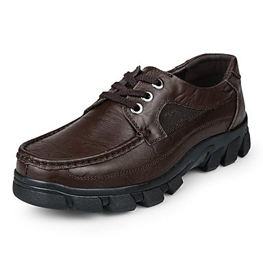 Wzw Men-oxford-leisure Office Y Trabajo Casual Evening And Party-comfortablenaphone-black Brown. Negro. Us5.5-6 / Eu37 / Uk4.5-5 / Cn37