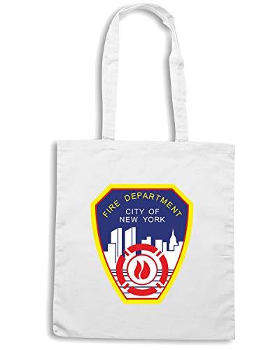 Borsa Shopper Bianca TM0088 FIRE DEPARTMENT CITY OF NEW YORK CITTA